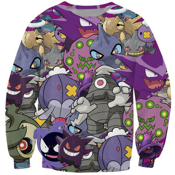 Pokemon Ghost Type Crewneck