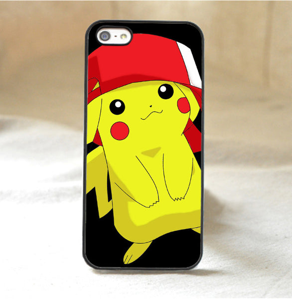 Pikachu With Ash Hat Case