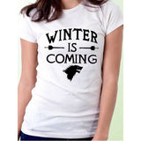 Games of Thrones Winter is Coming Stark Women T Shirts