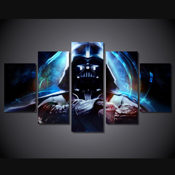 Dart Vader Colorful 5 Piece Art Canvas