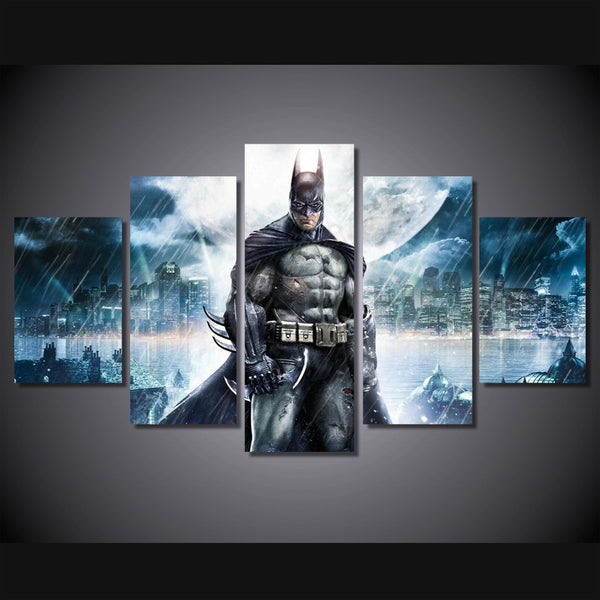 Batman In the Rain 5 Piece Art Canvas