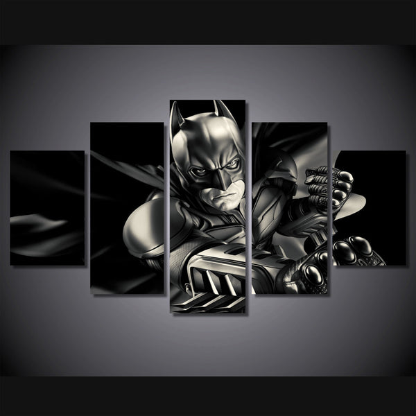Batman Dark Knight 5 Piece Canvas Painting