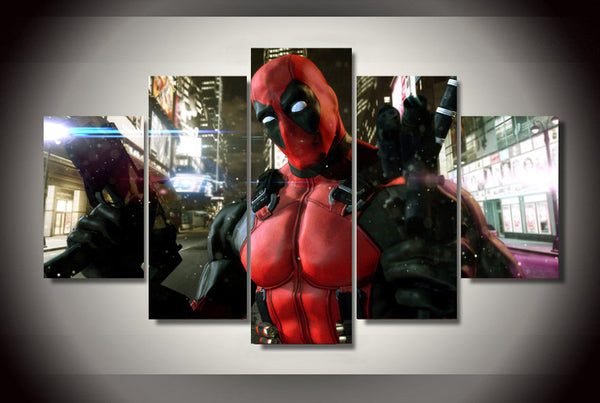 Deadpool Game 5 Piece Canvas Painting