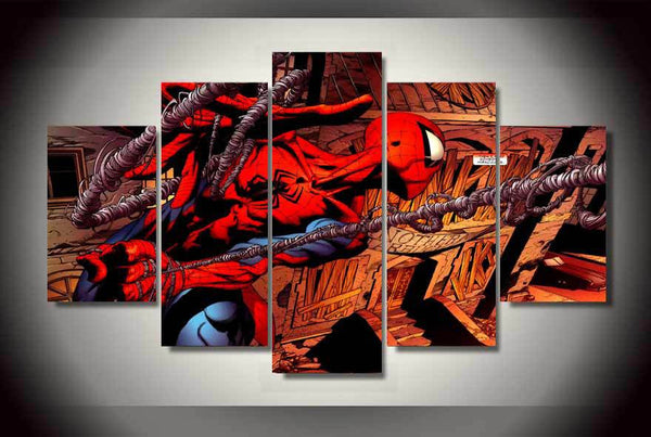 Spiderman Superhero 5 Piece Canvas Painting
