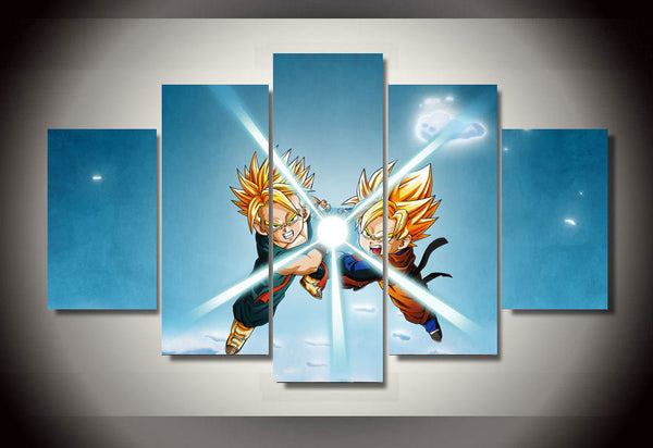 Dragon Ball Z Trunks and Goten 5 Piece Wall Canvas
