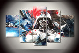 Darth Vador Colorful 5 Piece Canvas Painting