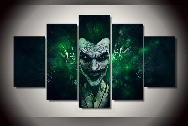 Arkham City Joker 5 Piece Canvas Painting