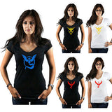 A Pokemon Go Women t shirt Team Valor / Mystic / Instinct T-shirts