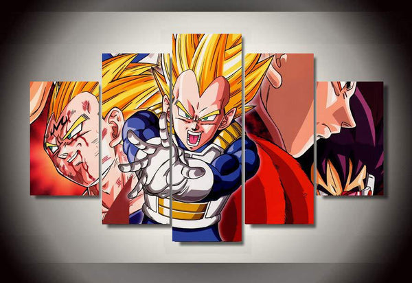 Dragon Ball Z Vegeta 5 Piece Canvas