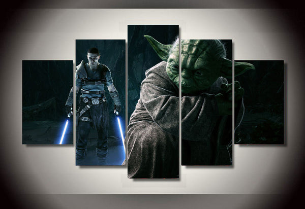 Star Wars Yoda Unleashed Wall Canvas