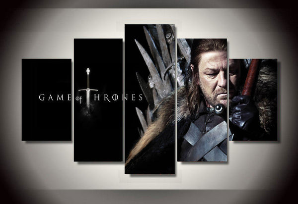 Game of Thrones King 5 Piece Canvas