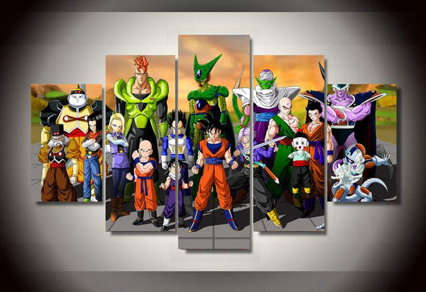 Dragon Ball Z Android Saga 5 Piece Canvas