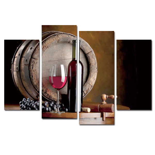 Wine Print Canvas Paintings 4 Piece Canvas