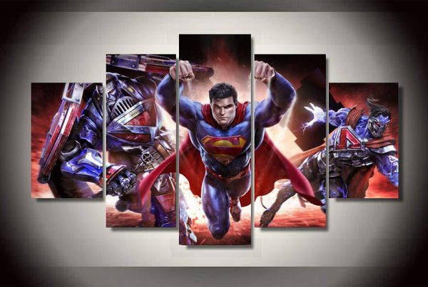 Superman Chaos 5 Piece Canvas Painting