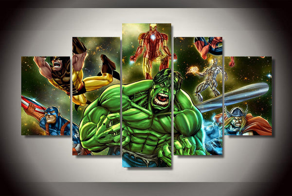 Marvel Galaxy 5 Piece Canvas Painting
