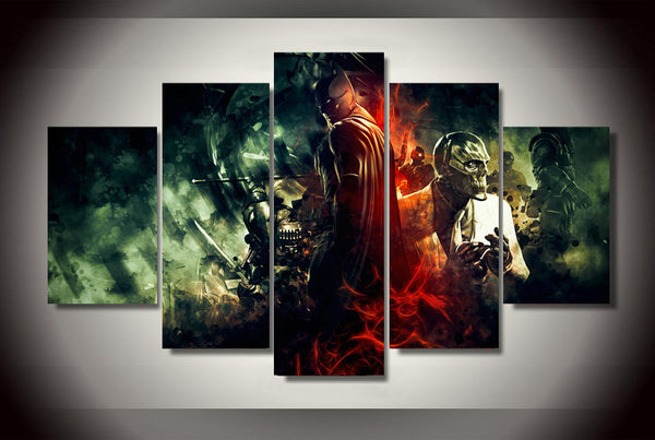 Black Mask Batman 5 Piece Canvas Painting