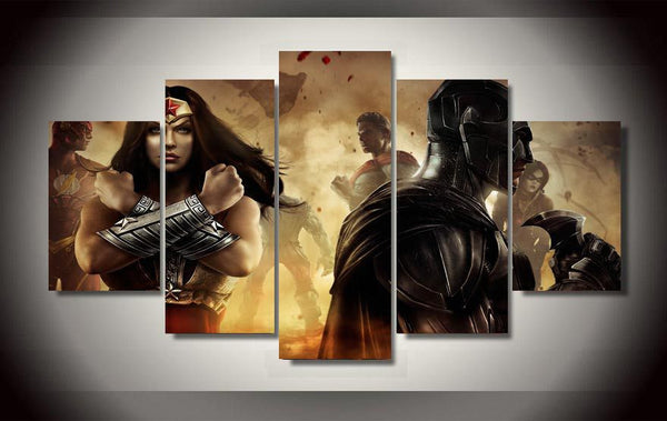 DC Chaos 5 Piece Canvas Painting