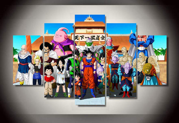 Dragon Ball Z Martial Arts Tournament 5 Piece Canvas