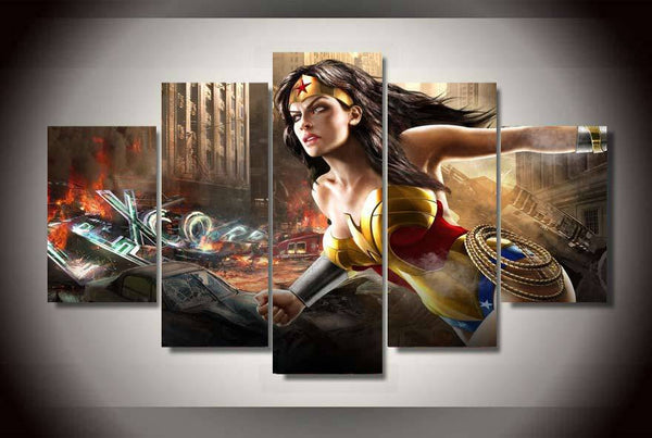 Wonder Woman 5 Piece Canvas