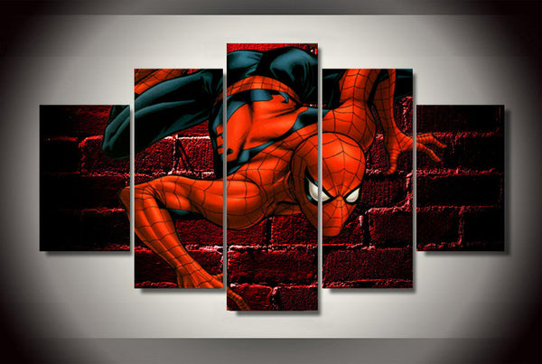 Spiderman Comics 5 Piece Painting Canvas