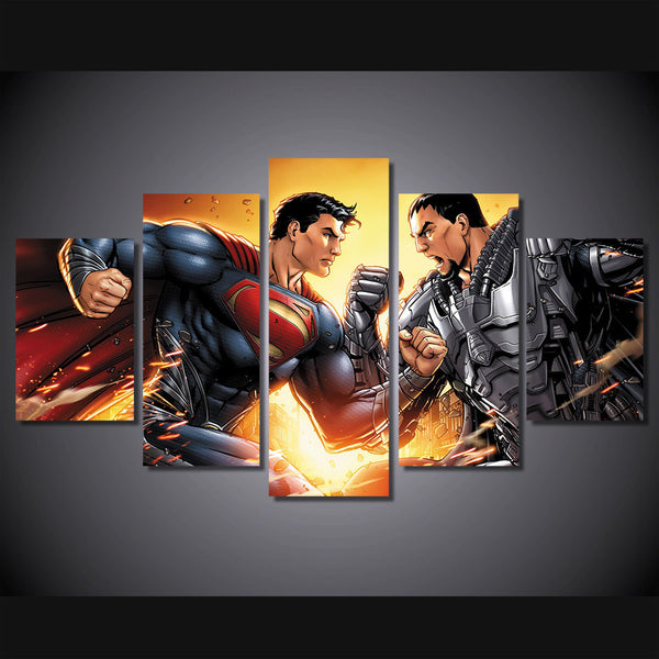 Superman Animation Painting Canvas