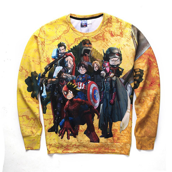 One Piece Avengers Crewneck