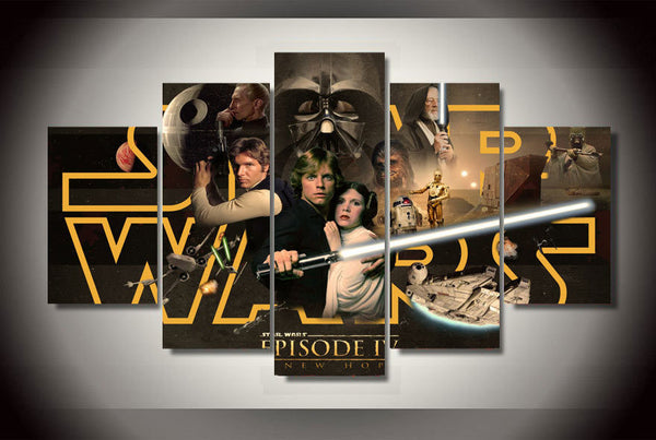 Star Wars Episode 4 5 Piece Art Canvas
