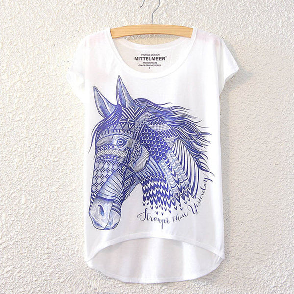 A Cool Horse Design Women Tee
