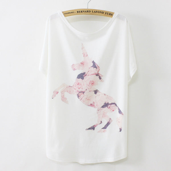 A Beautiful Loose Unicorn Women Tee