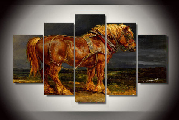 Beautiful Horse 5 Piece Canvas
