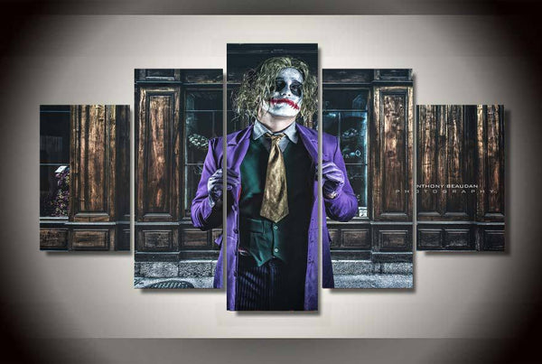Batman Joker In the Room 5 Piece Art Canvas