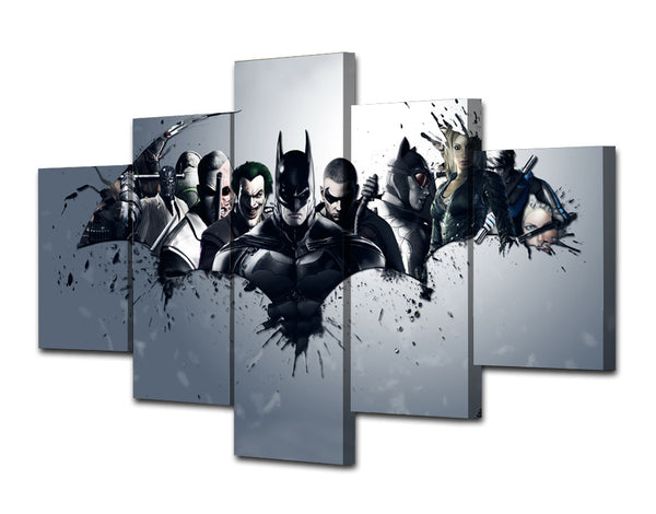 Batman Dark Knight Group 5 Piece Art Canvas
