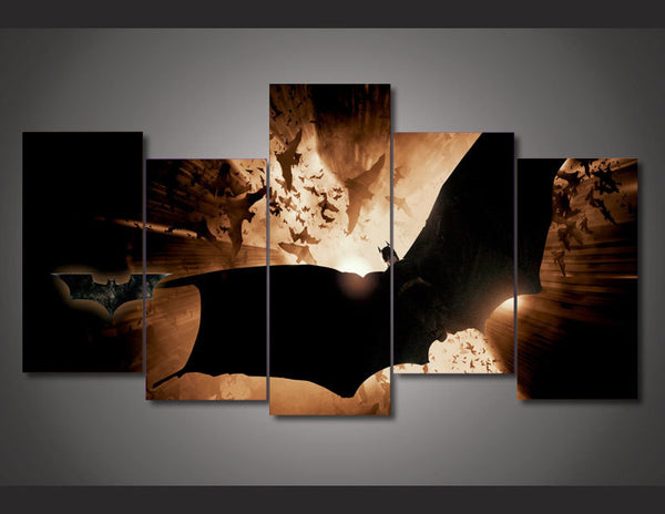 Batman Begins 5 Piece Art Canvas