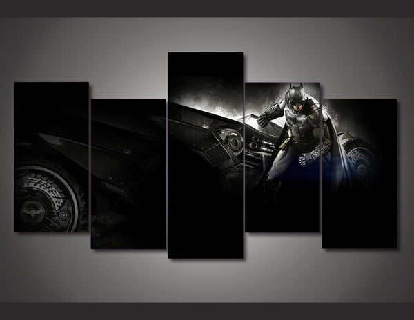 A Batman Batmobile 5 Piece Art Canvas
