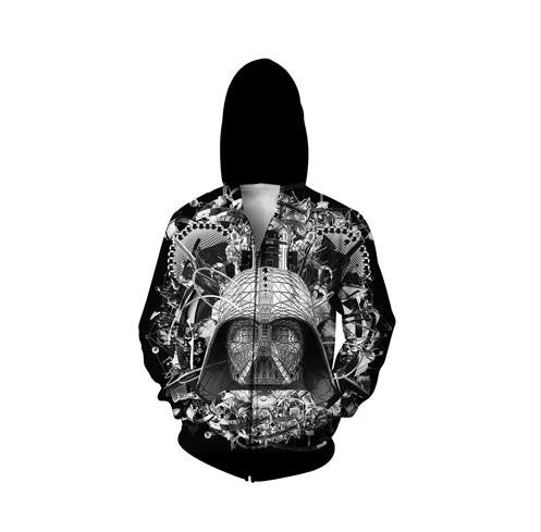 Abstract Star Wars Darth Vader Hoodie