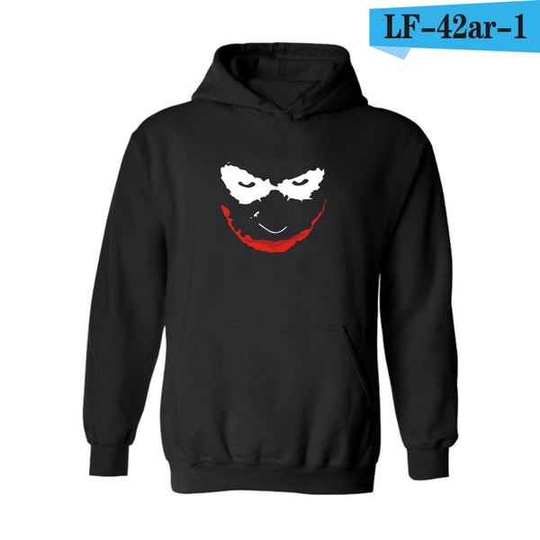 Classic Smiling Joker White Womens Hooded Sweatshirt