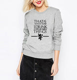 Womens Game of Thrones I know Things Crewneck