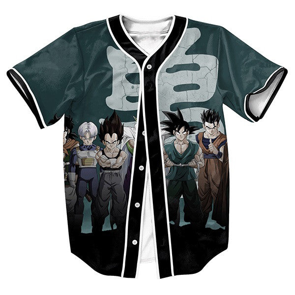 Dragon Ball Z Saiyans Baseball Tee