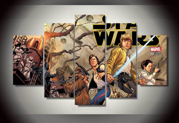 Star Wars Comic 5 Piece Art Canvas