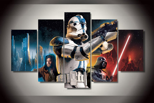 Star Wars Movie Colorful 5 Piece Art Canvas