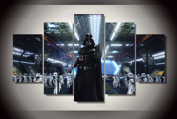 Darth Vader 5 Piece Art Canvas