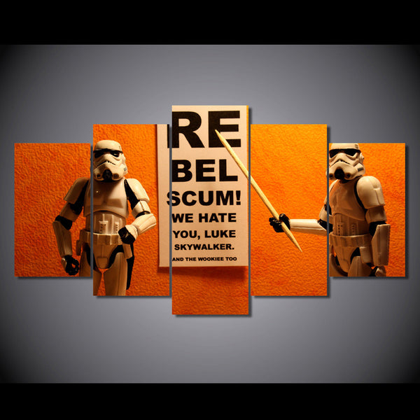 Star Wars Clone Soldiers Rebel 5 Piece Canvas