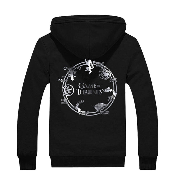 A Game of Thrones Silver Seven Houses Hoodies