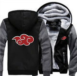 Anime NARUTO Akatsuki Cosplay Jacket Sweatshirts Thicken Hoodies