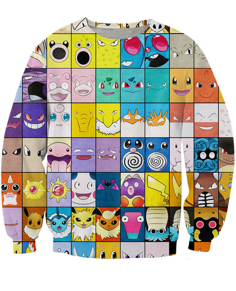 Pokemon Pokedex Crewneck