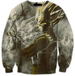 Abstract Vegeta Crewneck