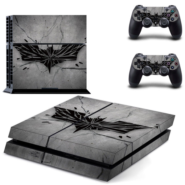 New Gray Batman PS4 Skin Sticker Cover for Sony PlayStation 4