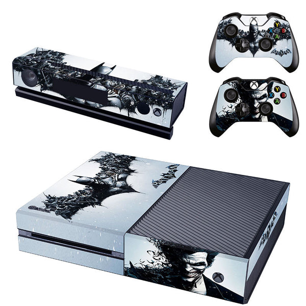 BATMAN Black Vinyl Skin Decal For Xbox one Console and 2PCS Xbox one Controller Skins Stickers