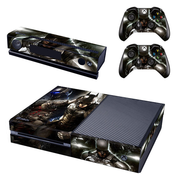 Black BATMAN Decal Skin Sticker for Microsoft Xbox One