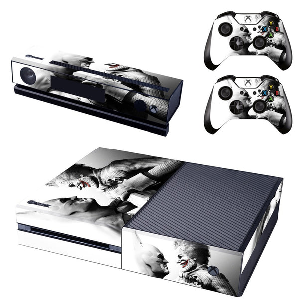 Joker & Batman Vinyl Skin Sticker Protector for Microsoft Xbox One and 2 controller skins Stickers for Xbox One
